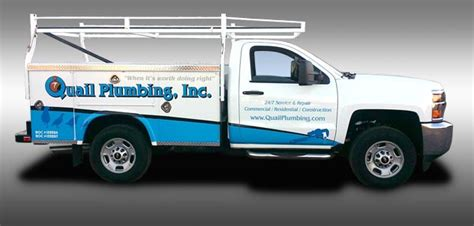 Quail Plumbing by Truck Wraps Az 3m Certified Graphics