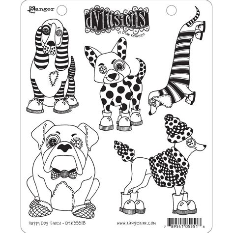 puppy tales dyan reaveley s dylusions st collection puppy tales by ranger for scrapbooks