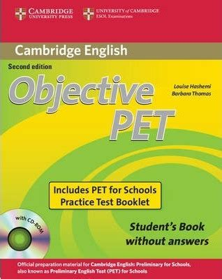 objective pet students book objective pet for schools pack without answers student s book with cd rom and for schools