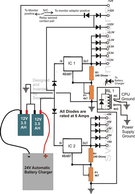 wiring diagram ups circuit transformerless ups circuit for computers cpu