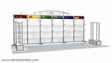 trade show display shelving 20ft modlite shelving trade show display booth