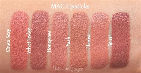 Mac Lipstick Velvet Teddy makeupbyjoyce swatches review mac matte satin
