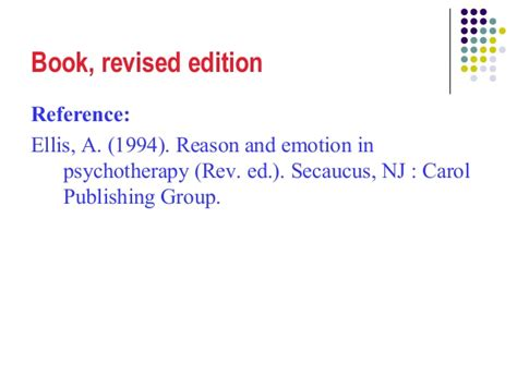 apa reference book revised edition apa a