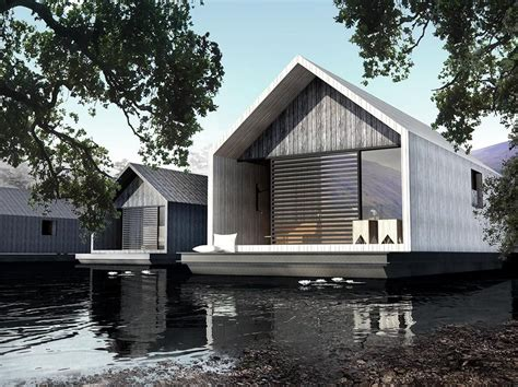 houseboat scotland floating hotel suites in scotland by ecofloat architects