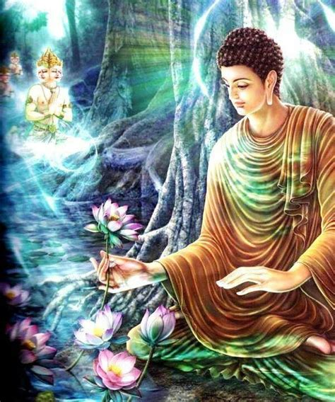 buddha and lotus buddha with lotus flowers masters are here to guide us