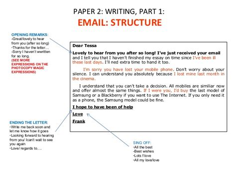 Paper 2 writing part 1