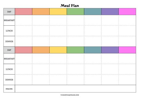 printable meal planner with snacks meal planning calendars that are actually useful tune my