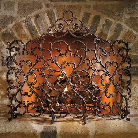 cast iron fireplace screens cast iron scrollwork fireplace screen frontgate