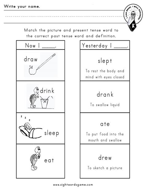 Irregular Verbs Worksheet by Present Tense Verbs Worksheets Grade 2 Present Tense