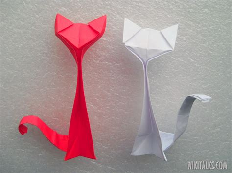 How To Make Origami Cat - how to make an origami cat out of paper wiki talks