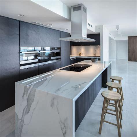 kitchen island waterfall countertop kitchen ideas and design