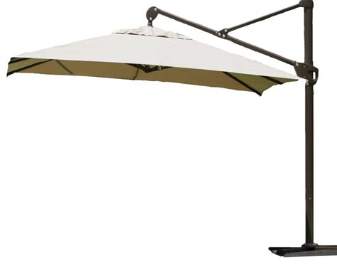 11 Ft Offset Patio Umbrella Abba Patio 11 Ft Offset Cantilever Umbrella With Vertical Tilt And Cross Base Modern Outdoor