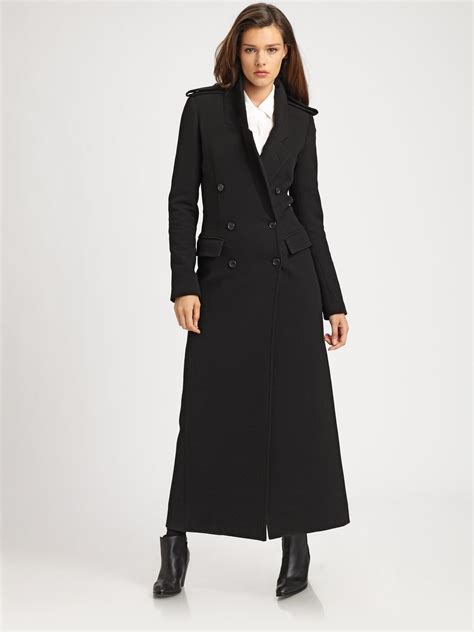Maxi Coat smythe tailored maxi coat in black lyst