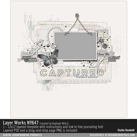 free layer templates for photoshop layer works no 647 layered scrapbook page template for
