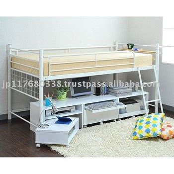 Metal Bunk Beds With Storage Mid Hight Metal Bed Frame With Storage Space Bib 012 Buy Mid Height Metal Bed Frame With