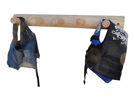 life jacket rack 5 peg lifejacket wall rack log kayak racks