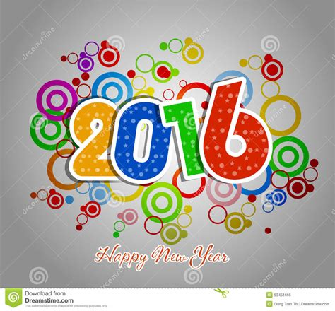 happy new year element vector design happy new year 2016 greeting card stock vector image
