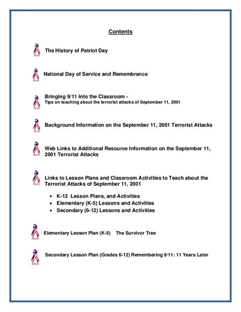 Patriot Day Worksheets by Patriot Day Packet 2012