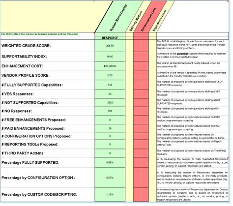 software vendor comparison template system comparison software evaluation rfp templates