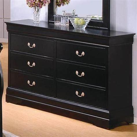 coaster louis philippe 201073 black wood dresser in los