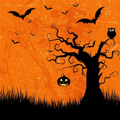Grunge style halloween background with bats jack o lantern ... About:blank Free Halloween Clipart