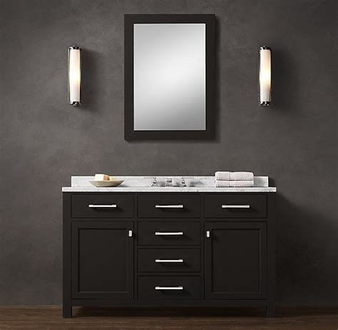 Bathrooms With Black Vanities Hutton Wide Single Vanity Transitional Master Bathroom Remodel Single