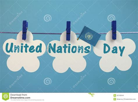 United Nations Nation 7 by United Nations Day Greeting Message Written Across White