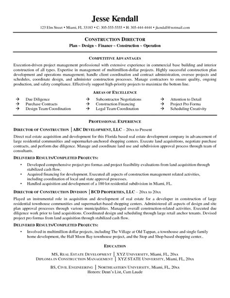 Resume Exles For Construction by Entry Level Construction Worker Resume Sles General