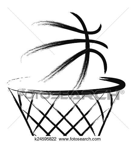 Basketball Clipart Vector Clipart Of Basketball K24595822 Search Clip