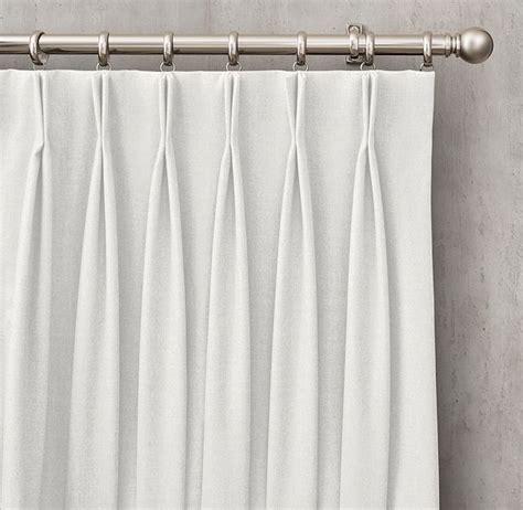 curtain haberdashery rh s custom heathered wool 2 fold french pleat drapery