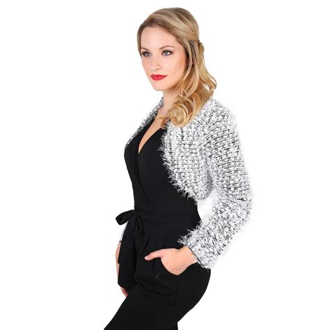 Knit Bolero Shrug Sweater fluffy knit cropped cardigan shrug bolero