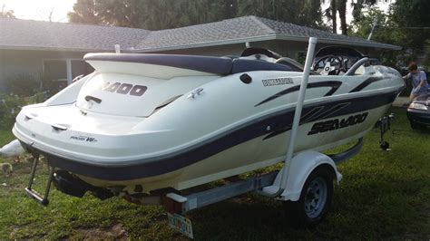 sea doo jet boat in saltwater sea doo challenger 2000 20 jet boat 2001 for sale for