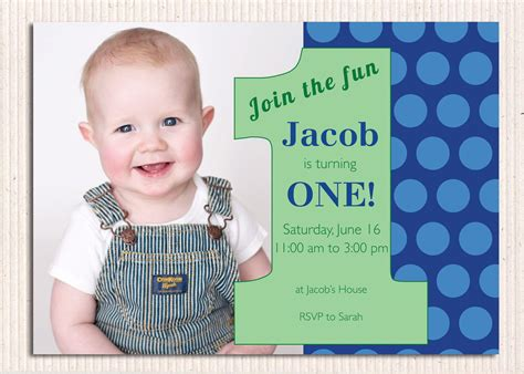 Baby Boy 1st Birthday Invitation Card Template by 16 Best Birthday Invites Printable Sle