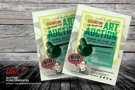 auction brochure template auction flyer templates by kinzi21 graphicriver
