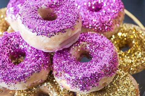 Glazed Glitter Donuts   The Frosted Petticoat