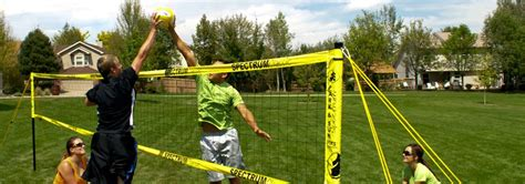 backyard volleyball set review park sun spectrum classic outdoor volleyball set