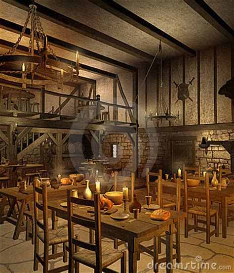 medieval tavern  royalty  stock  image
