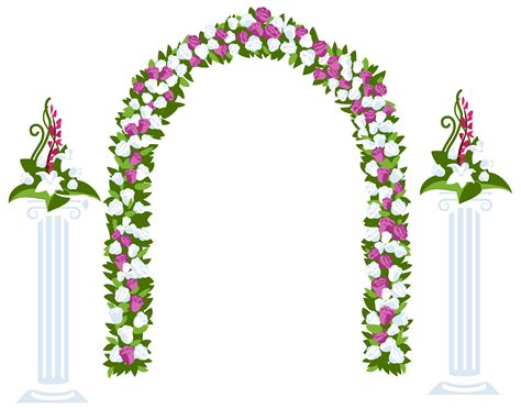 Wedding Arch No Flowers by Floral Arch Clipart 13