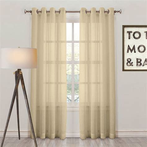 antique gold curtains montauk sheer check eyelet curtain panel antique gold
