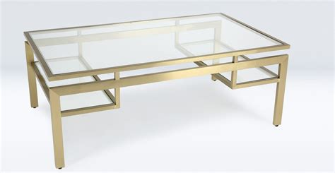 Table Basse Verre Metal by Table Basse En Verre Et M 233 Tal De Couleur Laiton