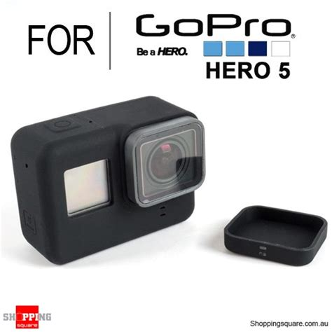 silicone protective cover shell with lens cap for gopro 5 black colour