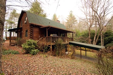 lincoln log log cabin outside of brevard nc with location