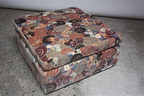 Fabric Ottomans For Sale Pair Of Ottomans In Lenor Larsen Fabric For Sale At