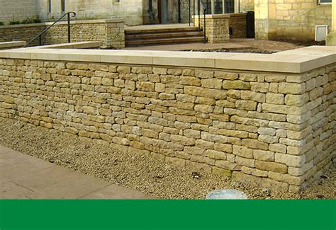 Cotswold Dry Stone Walling Smith Bletchington Garden Wall Coping Stones