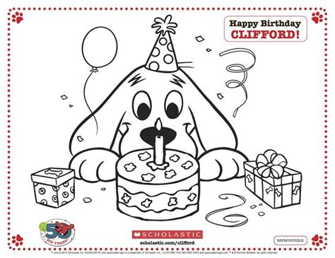 clifford autumn coloring pages activities for kids red dog birthdays and birthday