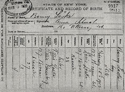 Birth Records Nyc New York City Birth Certificate Katinabags