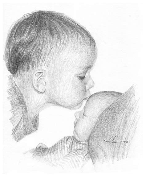 6 Drawing Pencil by Pencil Drawings Pencil Drawings Baby Images High