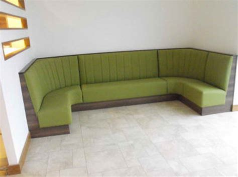 banquette seating furniture with green color home