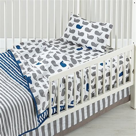 Comforters For Toddler Beds by Make A Splash Toddler Bedding Whales The Land Of Nod