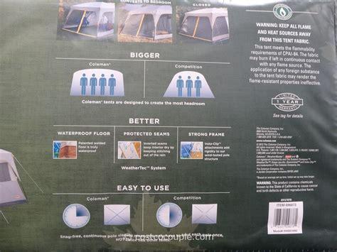 Steel Patio Set Coleman Weathermaster Ii 10 Person Screened Tent